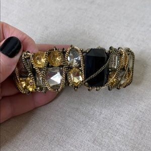 """Fun Stretch Bracelet with Chains and """"Jewels"""""""